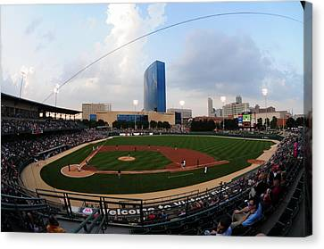 Victory Field Home Of The Indianapolis Indians Canvas Print by Rob Banayote