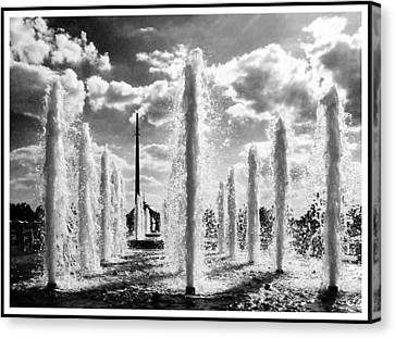 Victory Park Fountains Canvas Print by Mark Britten