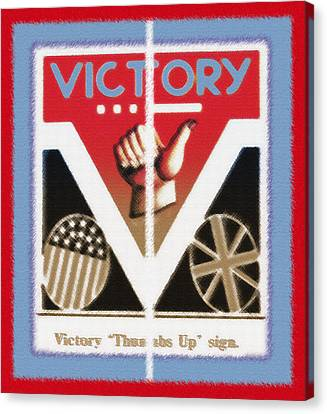 Victory Sign Diptych Canvas Print by Steve Ohlsen