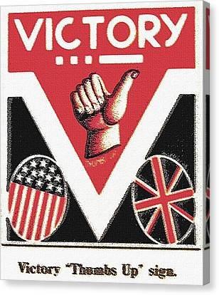 Victory Sign Canvas Print by Steve Ohlsen