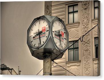 Vienna Time Canvas Print by Barry R Jones Jr