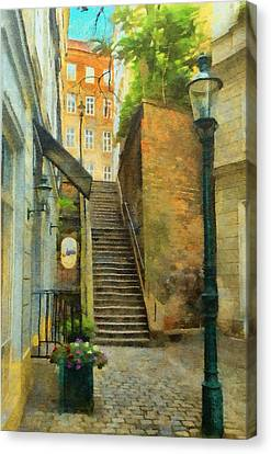Viennese Side Street Canvas Print by Jeff Kolker