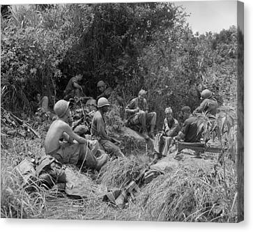 Vietnam War. Soldiers Of The 101st Canvas Print by Everett