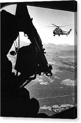Vietnam War. Us Army Helicopter Canvas Print by Everett