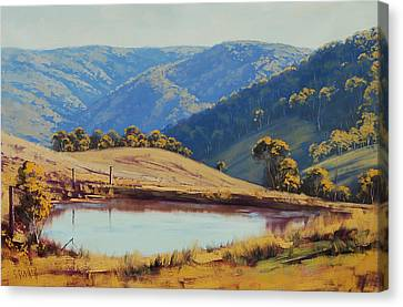 View Across The Dam Canvas Print by Graham Gercken