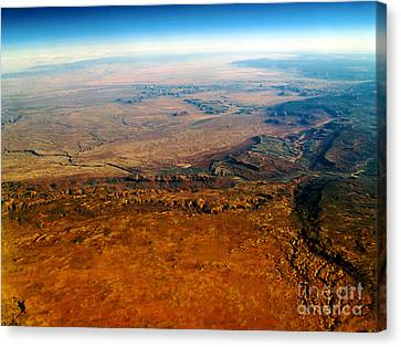 Terra Firma Canvas Print - View From Above Vi by Patricia Griffin Brett