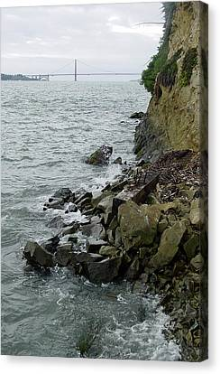 View From Alcatraz II Canvas Print by Suzanne Gaff