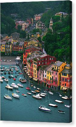 View From Castello Brown Canvas Print by John Galbo