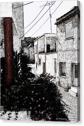View From Kitchen Window --18 Canvas Print
