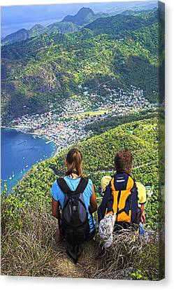 View From Petit Piton- St Lucia  Canvas Print