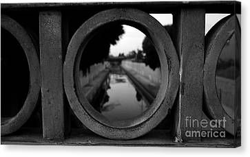 Canvas Print featuring the photograph View From The Bridge by Nina Prommer