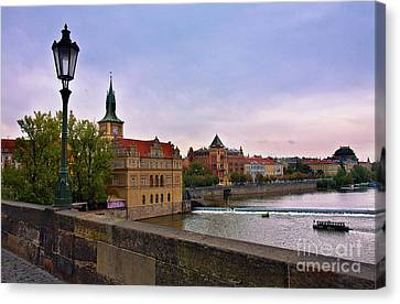 View From The Charles Bridge Revisited Canvas Print by Madeline Ellis