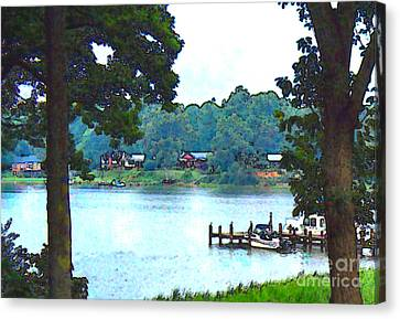 View From The Deck Canvas Print by Elinor Mavor