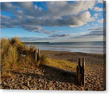 View From The Dunes At Tramore. Canvas Print