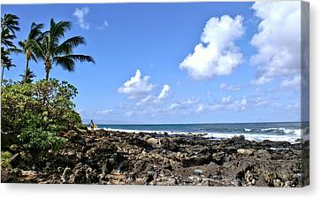 Canvas Print featuring the photograph View From The Gazebo On Maui by Rob Green