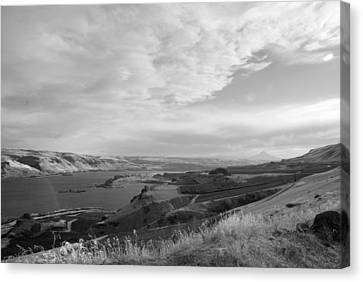 Canvas Print featuring the photograph View From The Hill Columbia River by Kathleen Grace