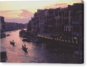 Canvas Print featuring the photograph View From The Rialto Venice by Tom Wurl