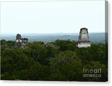 View From The Top Of The World Canvas Print by Kathy McClure