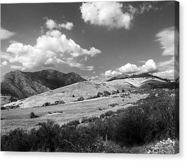 Canvas Print featuring the photograph View Into The Mountains by Kathleen Grace