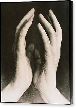 View Of A Woman's Hands Held Together Canvas Print by Cristina Pedrazzini