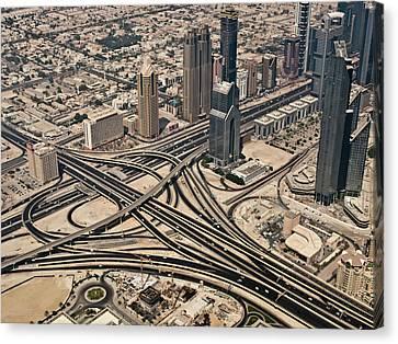 View Of Burj Khalifa Canvas Print by Luc V. de Zeeuw