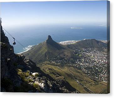 View Of Cape Town From Table Mountain Canvas Print by Stacy Gold