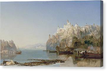 View Of Constantinople On The Bosphorus Canvas Print by James Webb