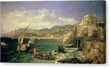 View Of Genoa Canvas Print by William Parrott
