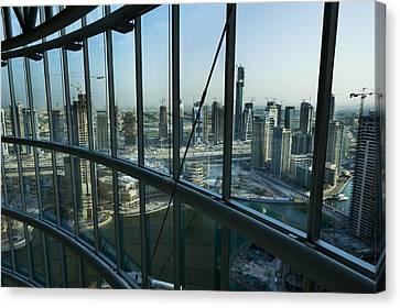 View Of High Rises And Construction Canvas Print by Mattias Klum