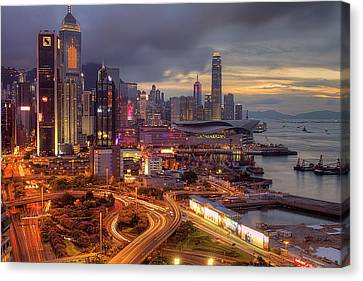 View Of Hong Kong Canvas Print by Marty Windle