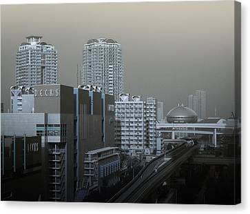 View Of Modern Tokyo Canvas Print by Naxart Studio