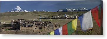 View Of Mount Kailash From Chiu Canvas Print by Phil Borges