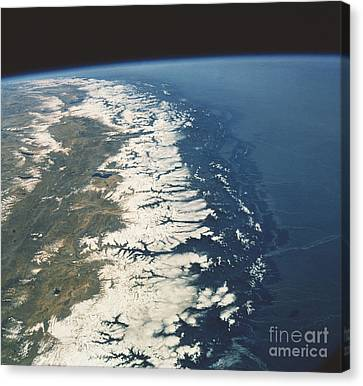 View Of Nepal From Space Shuttle 61a Canvas Print