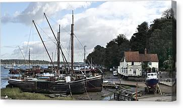 View Of Pin Mill From King's Yard Canvas Print by Gary Eason