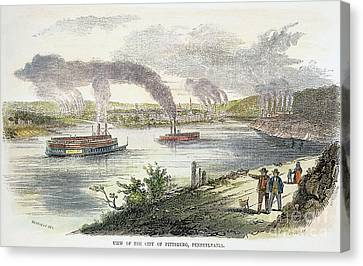 View Of Pittsburgh, 1853 Canvas Print by Granger