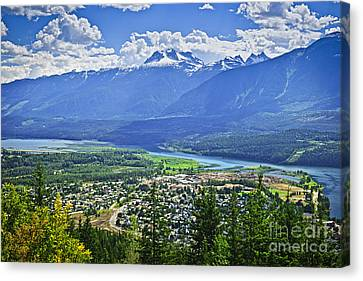 View Of Revelstoke In British Columbia Canvas Print by Elena Elisseeva
