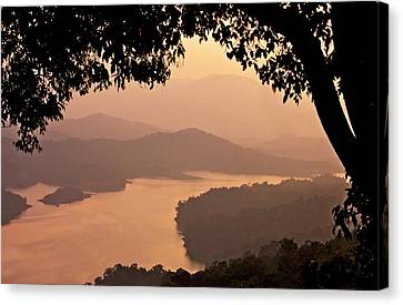 View Of Sharavathi River Canvas Print by Amit R