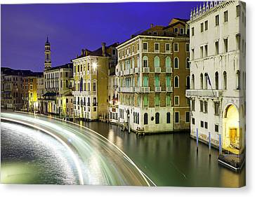 View Of The Grand Canal From Rialto Bridge Canvas Print