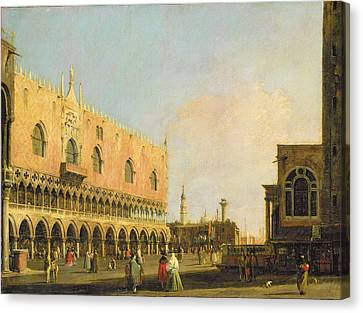View Of The Piazzetta San Marco Looking South Canvas Print by Canaletto
