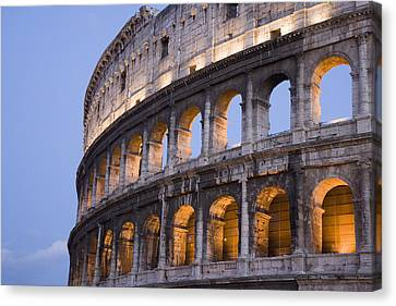 View Of The Roman Coliseum In Rome Canvas Print