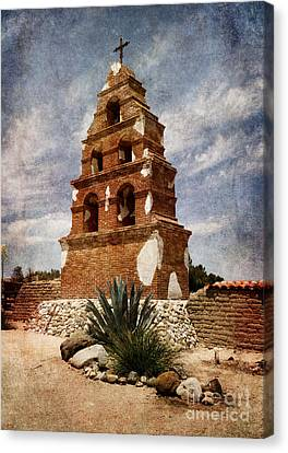 Mission California Canvas Print - View Of The San Miguel Bell Tower by Laura Iverson