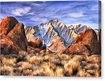 View Of The Sierras Canvas Print by Dominic Piperata