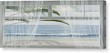 Sunburst Canvas Print - View Of The Tropics Panoramic View by Diane Romanello