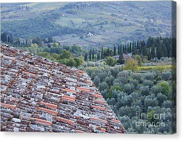 View Of The Val Doro From Rooftop Canvas Print by Jeremy Woodhouse