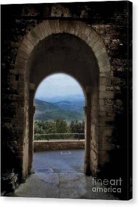 View Of Tuscany Canvas Print by Karen Lewis