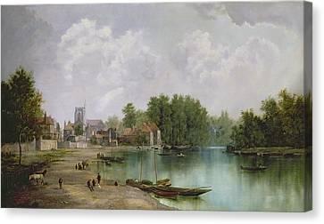 View Of Twickenham Canvas Print by W Howard