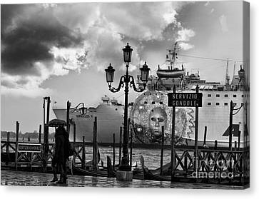 View On Canale Di San Marco In Venice Canvas Print by Design Remix