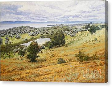 View On The Volga Canvas Print by Andrey Soldatenko