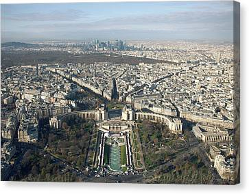 View Over Trocadero From Eiffel Tower. Paris Canvas Print