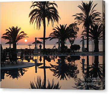 View To Kephalonia Island Canvas Print by Roswitha Schmuecker